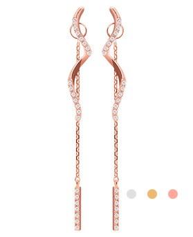 1044258 - <ER965_DF26> [Silver Post] avec two-way earrings
