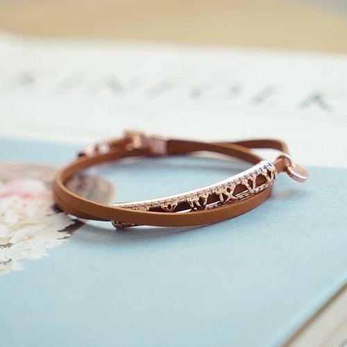 1044260 - <BC493_HE09> diable leather bracelet