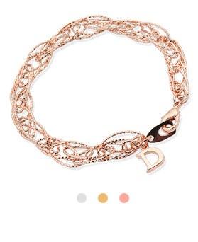 1044265 - <BC494_HB11> wave cutting chain bracelet