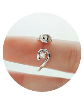 1044270 - <RI551_JD07> [Silver] Monkey ring