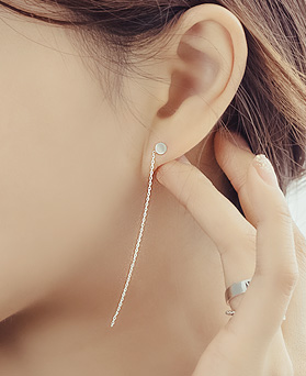 1044290 - <ER975_GC09> [Silver] unbalance long earrings