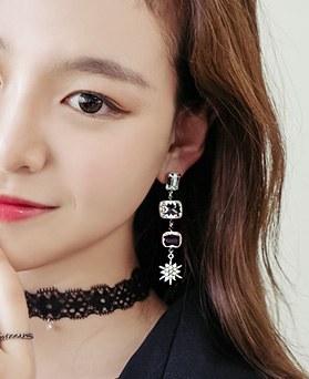 1044296 - <ER977_DJ17> [Descendant of the sun Kang Mo Yeon] sangria earrings