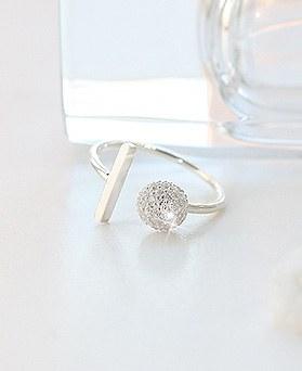 1044323 - <RI559_JD10> [Silver] stick Ann ball ring