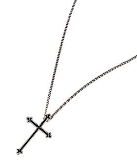 1044332 - <NE297_IF07> [Silver] Edge cross necklace