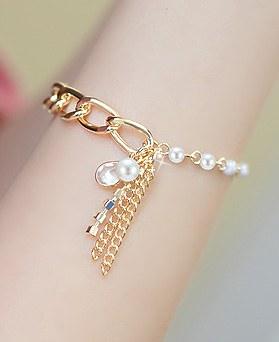 1044334 - <BC505_S> Tear Ann pearl bracelet