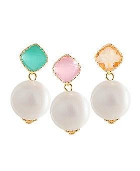 1044351 - <ER985_CG09> pastel pearl ball earrings