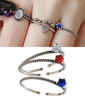 1044358 - <RI566_JD03> [Silver] Hyacinth ring