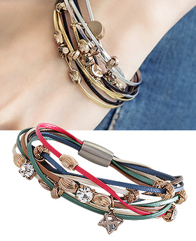 1044367 - <BC508_HB14> [handmade] Hades leather bracelet