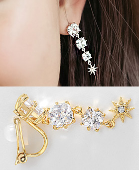 1044377 - <PC192_S> [Out of stock] [clip type] love palace earrings