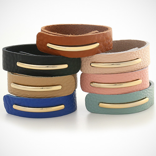 1044386 - <BC510_HF04> milk tea leather bracelet