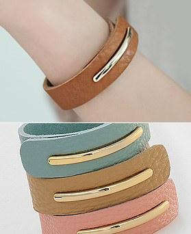 1044386 - <BC510_HF04> milk tea leather bracelet