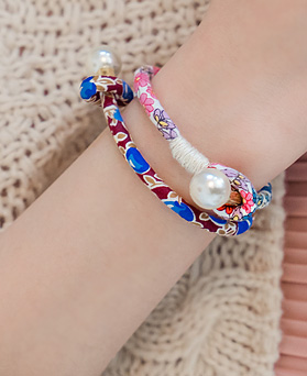 1044393 - <BC512_S> [Immediate out of stock] oriental Flower bracelet