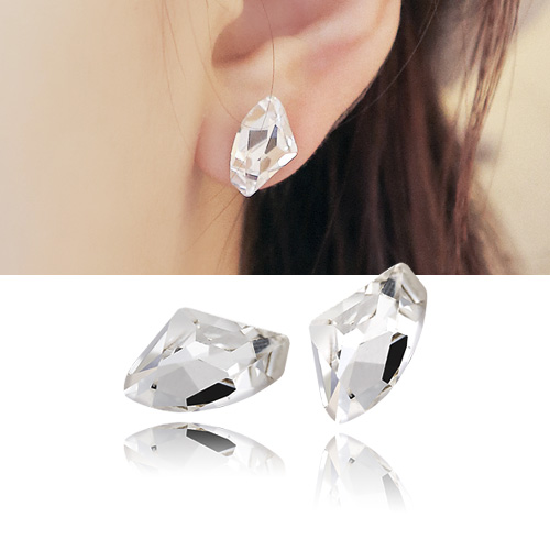 1044438 - <ER1004_DH11> [Descendant of the sun Kang Mo Yeon] [Silver Post] Swarovski romantic earrings