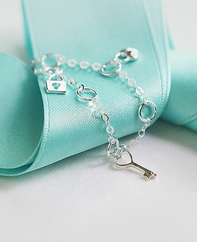 1044462 - <BC536_HC17> [Silver] lovely key bracelet