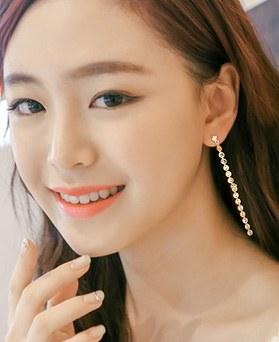 1044493 - <ER1012_DH18> Spangle long earrings