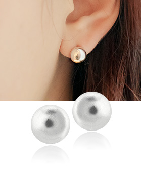 1044500 - <ER1015_DB03> [Silver] candles earrings