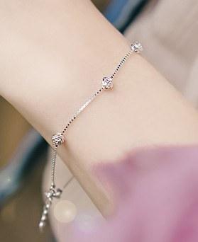 1044503 - <BC539_BD06> [Silver] nobly rose bracelet