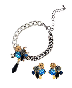 1044516 - <JS202_IF13> [bracelet + earrings] New York City set