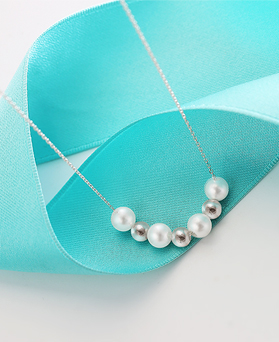 1044536 - <NE320_BD06> [Silver] Holiday pearl necklace
