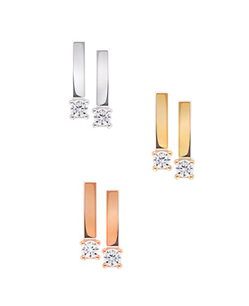 1044549 - <ER1027_DE26> [Silver Post] All day stick earrings