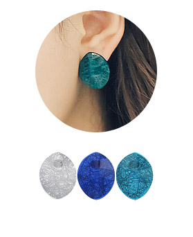 1044551 - <ER1028_S> [Immediate out of stock] Foliage earrings