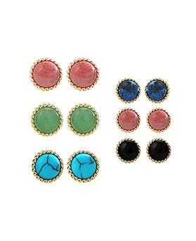 1044552 - <ER1029_GZ01> [Silver Post] merry gemstone earrings
