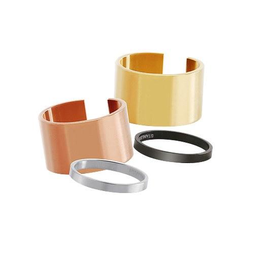 1044582 - <RI592_JI08> [Stainless steel] [2Piece 1set] basic Bang ring