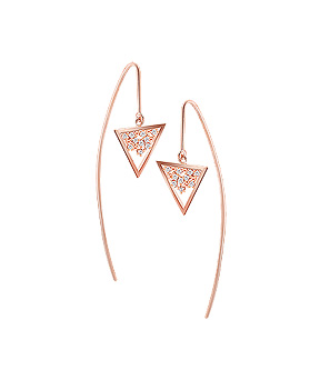 1044601 - <ER1037_DL16> Triangle triangle earrings