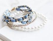 220516 - <BC140-S> Romantic triple chain bracelet