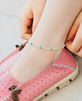 1044615 - <BC570_S> [Sold out] [Silver] Fruits ball anklet