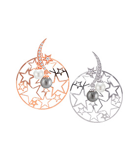 1044616 - <ER1041_DL20> [Silver Post] berry moonlight earrings