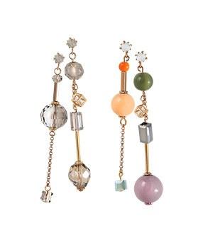 1044627 - <ER1043_DH06> [handmade] Unbalanced olive earrings