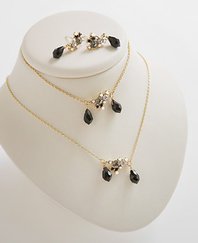 1044632 - <JS212_IF14> [necklace + bracelet + earrings] [Silver Post] pure romantic set