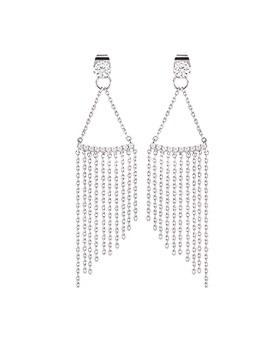 1044641 - <ER1047_ID01> [Silver Post] chain chain earrings