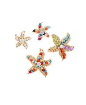 1044658 - <ER1051_CD22> Cocktail starfish earrings