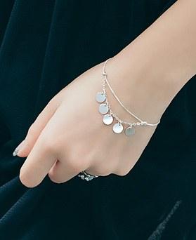 1044665 - <BC583_BE08> [Silver] Paris line bracelet