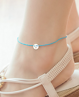 1044677 - <BC695_BE00> [Silver] cutie emotion anklet