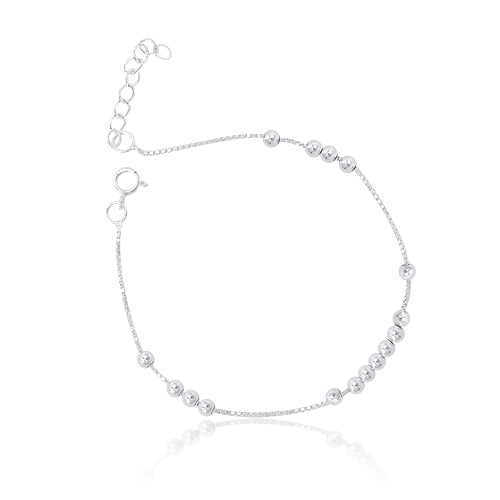 1044689 - <BC589_BE08> [Silver] light ball bracelet