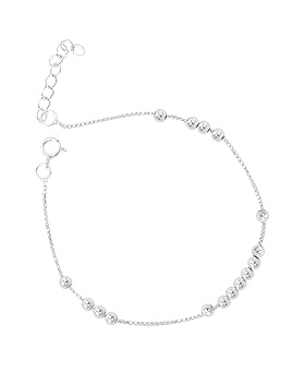 1044689 - <BC589_BE08> [Silver] light ball bracelet