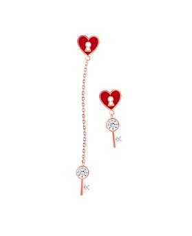 1044695 - <ER1059_GD05> [Silver Post] Unbalanced lovely earrings