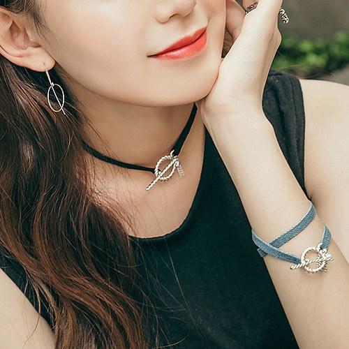 1044712 - <NE336_BB00> [bracelet for both] About Hook choker necklace