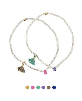 1044714 - <BC594_HH21> marine tassel bracelet
