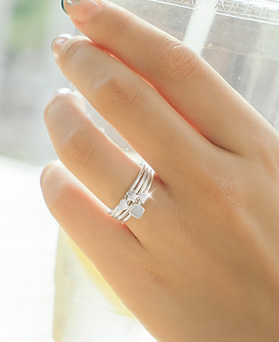 1044753 - <RI612_S> [Same day shipping] [Silver] Figure slim ring