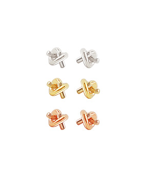 1044777 - <ER1083_B> [Selling pairs] [Silver] twist earrings (earring)