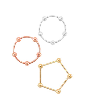 1044787 - <RI619_B> [Silver] whipping ball ring