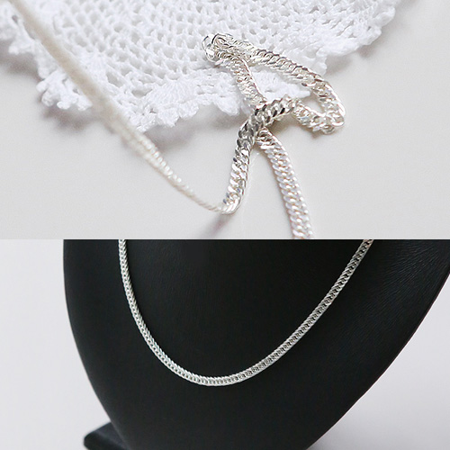 1044792 - <NE338_BE06> [Silver] ray chain necklace