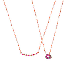 1044801 - <NE339_IH17> Mini lip love necklace