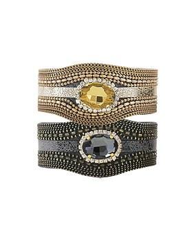 1044806 - <BC612_HF11> twinkle leather bracelet