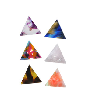 1044807 - <ER1090_GB06~10> triangle Patterns earrings