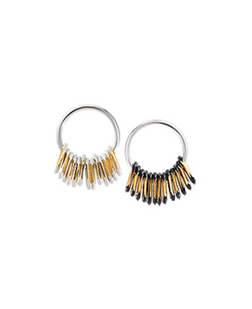 1044831 - <ER1098_DK15> [Silver Post] vintage crease earrings